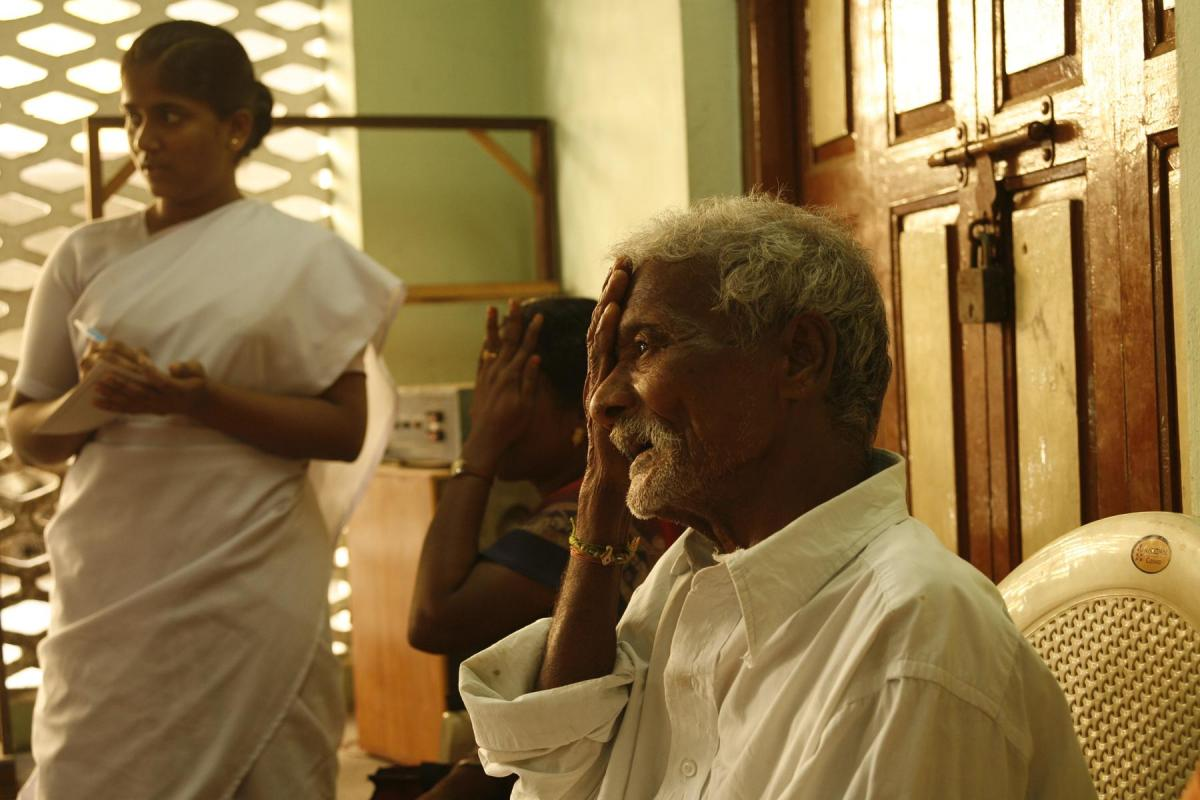 A patient examination at Aravind