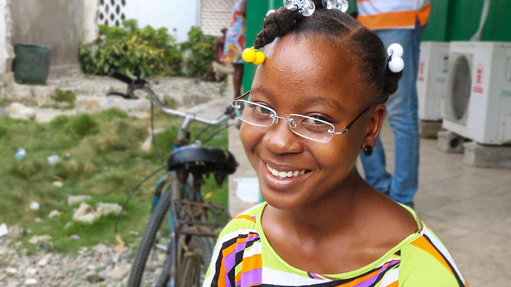 13 year old girl Louchana from Haiti - Photo courtesy Cielo Pictures