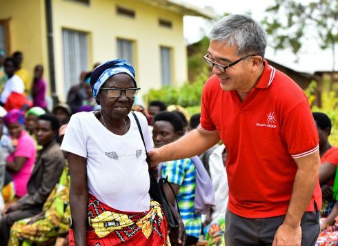 James Chen in Rwanda