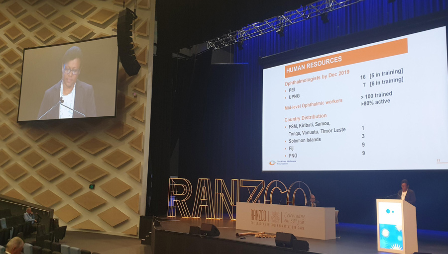 Ana Cama at RANZCO/ Story: Early Screening in the Pacific Essential for DR