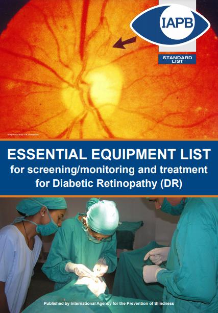 IAPB Essential Equipment List for Diabetic Retinopathy