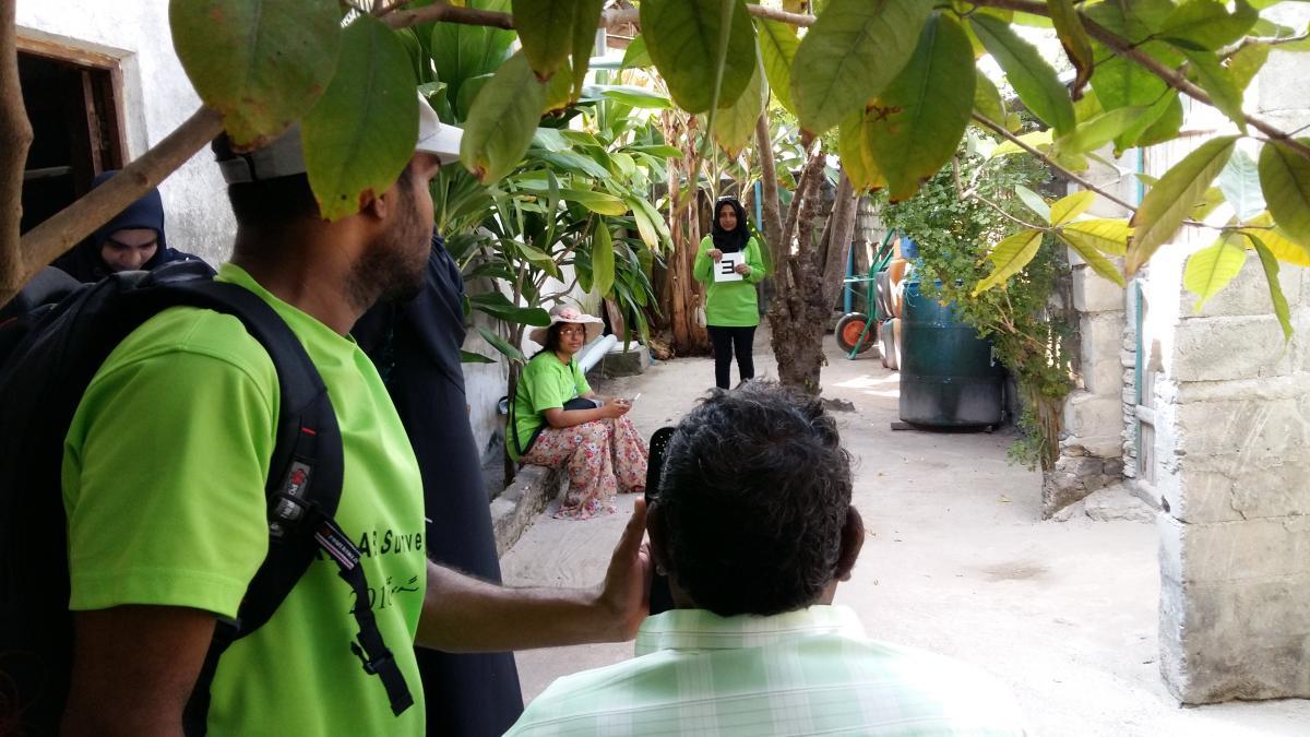 An eye screening in Maldives for the Maldives RAAB