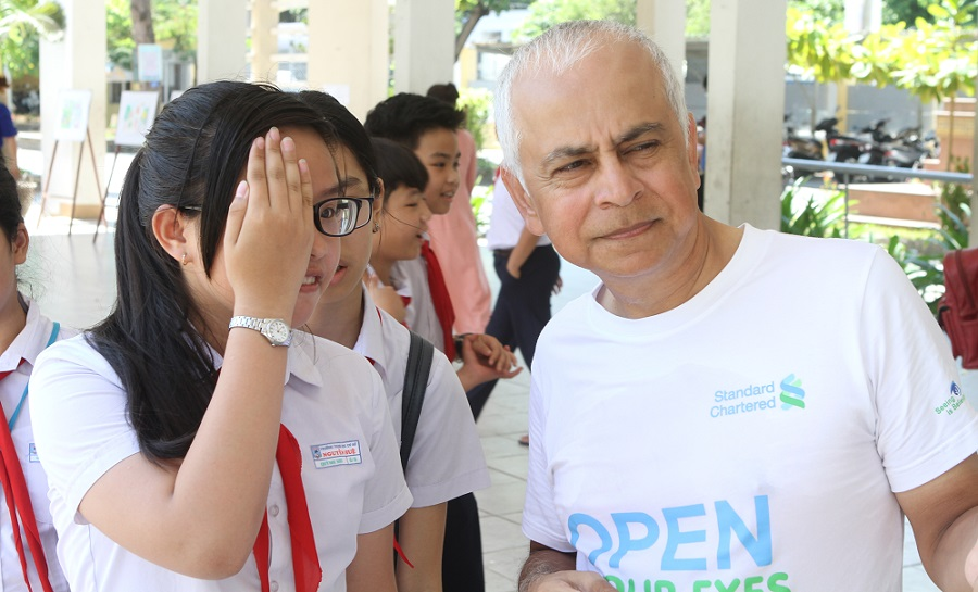 The Fred Hollows Foundation Vietnam Child Eye Care (VNCEC) Project SCB staff volunteer day in Da Nang, Vietnam