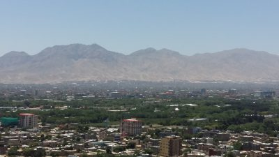 Skyline view of Kabul