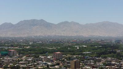 Skyline view of Kabul