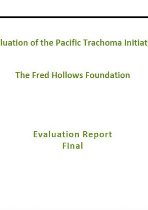 Evaluation of the Pacific Trachoma Initiative