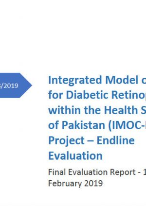 Integrated Model of Care for Diabetic Retinopathy within the Health System of Pakistan