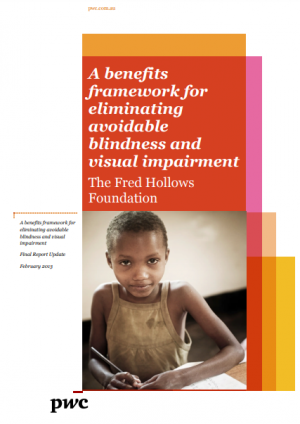 A benefits framework for eliminating avoidable blindness and visual impairment