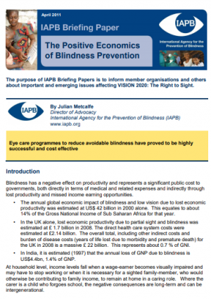 Blindness and the UN Convention on Rights of Persons with Disabilities