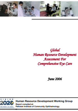 Global Human Resource Development Assessment for Comprehensive Eye Care