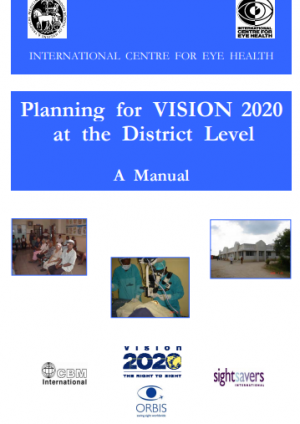 Planning for VISION 2020 at the District Level: A Manual