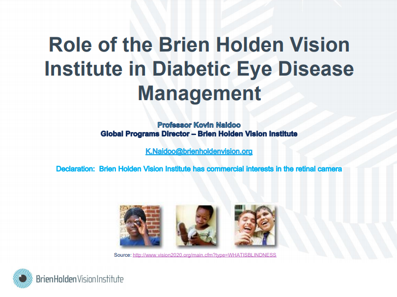 Role of the Brien Holden Vision Institute in Diabetic Eye Disease Management_Kovin Naidoo