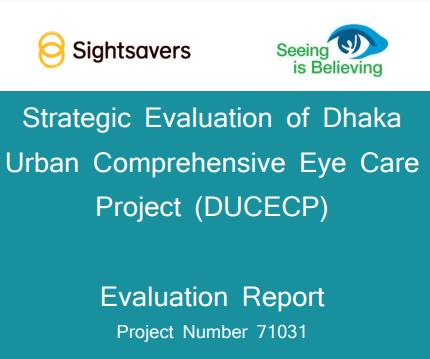 Sightsavers Bangladesh Final Evaluation 2015