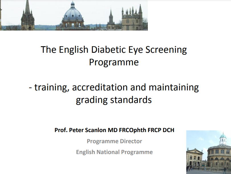 The English Diabetic Eye Screening Programme - Peter Scanlon