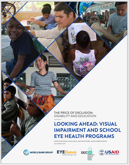 The Price Of Exclusion: Disability and Education Looking Ahead: Visual Impairment and School Eye Health Programs