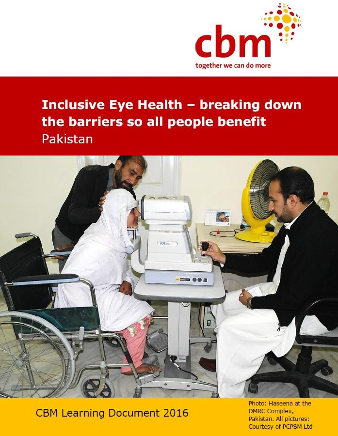 Inclusive Eye Health – breaking down the barriers so all people benefit – Pakistan