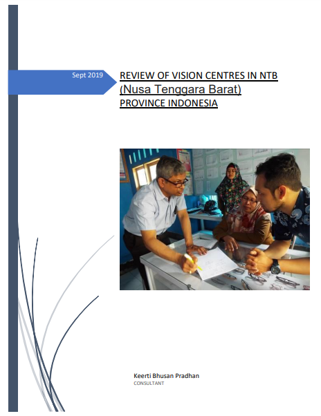 Review of Vision Centres In Ntb (Nusa Tenggara Barat) Province Indonesia