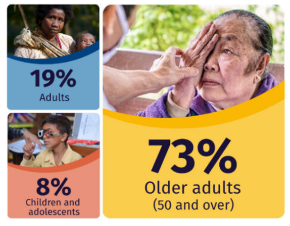 Vision Atlas infographic (73% are older adults)