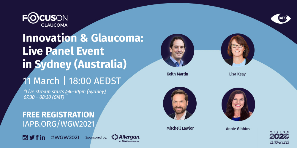 Innovation and Glaucoma: Live Panel Event in Sydney – Australia
