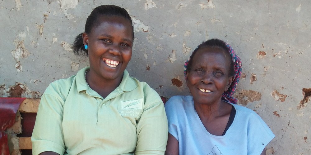 Jane Njoki_Kenya_Patient Story_Cataracts_Senior_Female_August 2019_From L to R - Naomi (CHV) and Jane