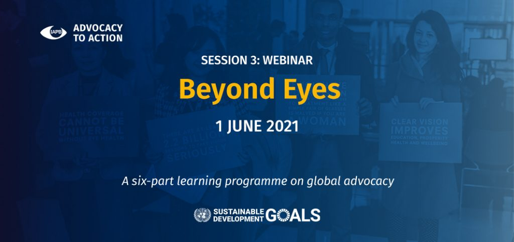 Beyond Eyes - Webinar - Advocacy to Action