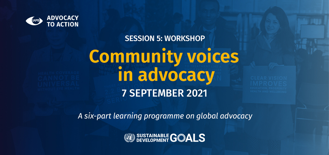 Advocacy to Action: Workshops - Community voices in advocacy