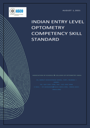 Indian Entry Level Optometry Competency Skill Standard cover