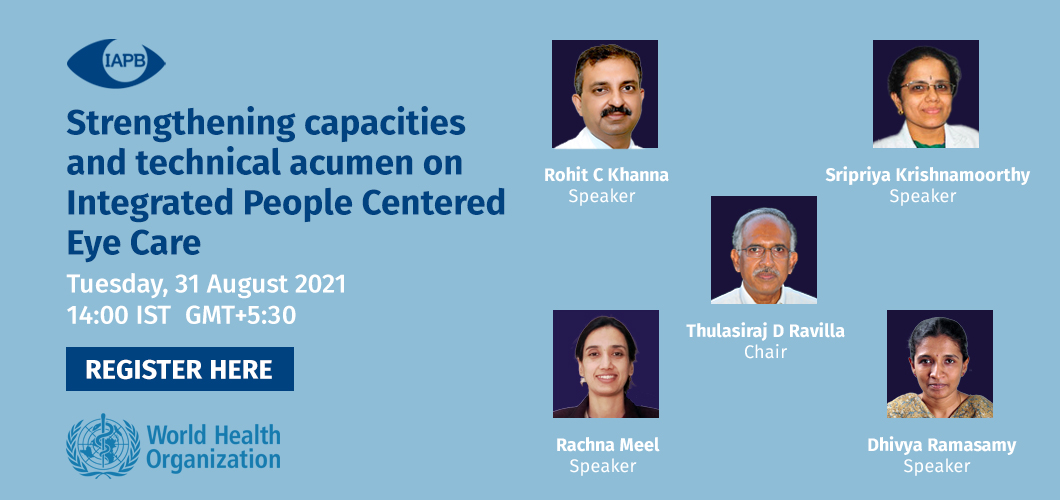 Webinar 2 - Strengthening capacities and technical acumen on Integrated People Centered Eye Care