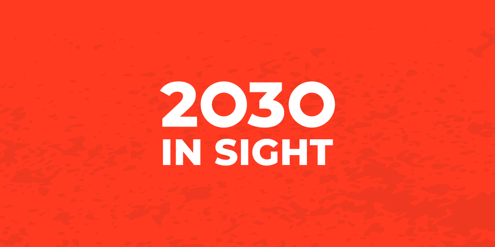 2030 in sight banner