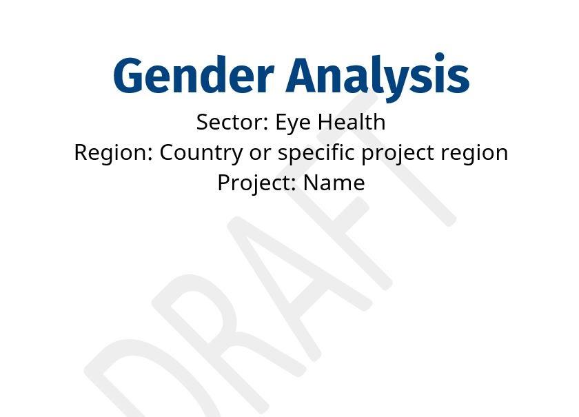 Gender Analysis in Eye Health Template cover