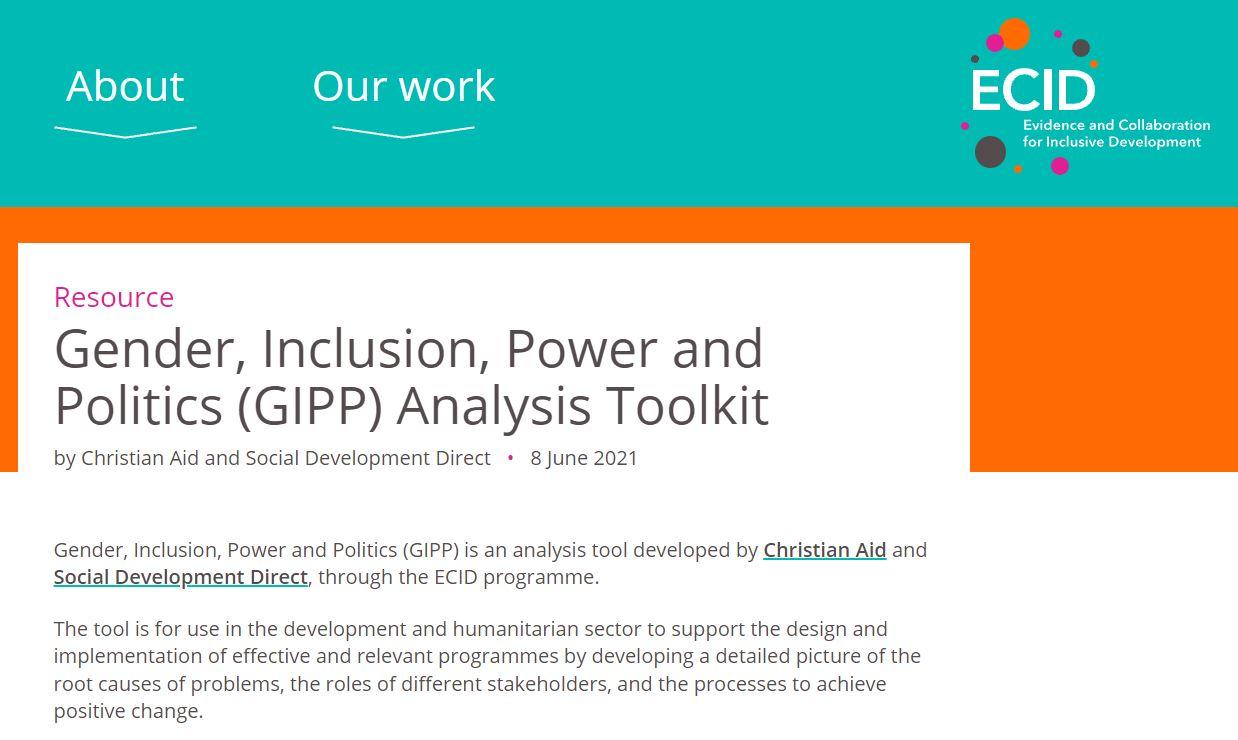 GIPP Analysis Toolkit summary