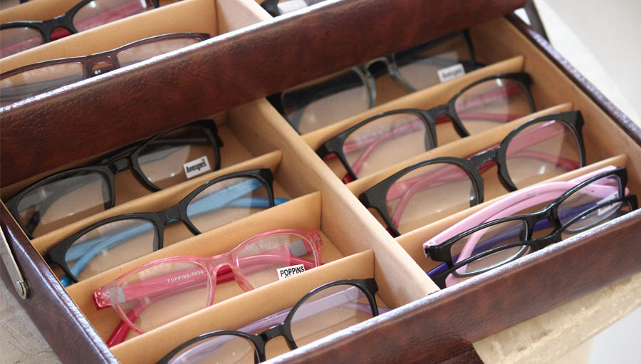 a case full of spectacles