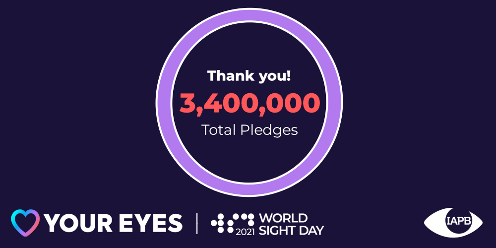 3.4million pledges for World Sight Day