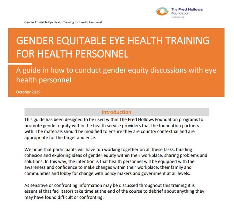 FHF Gender Equity Guide