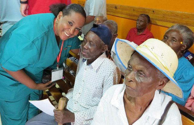 Dr. Guerline Roney, 2013 IAPB Eye Health Hero, at her Clinique Vision Plus, Haiti
