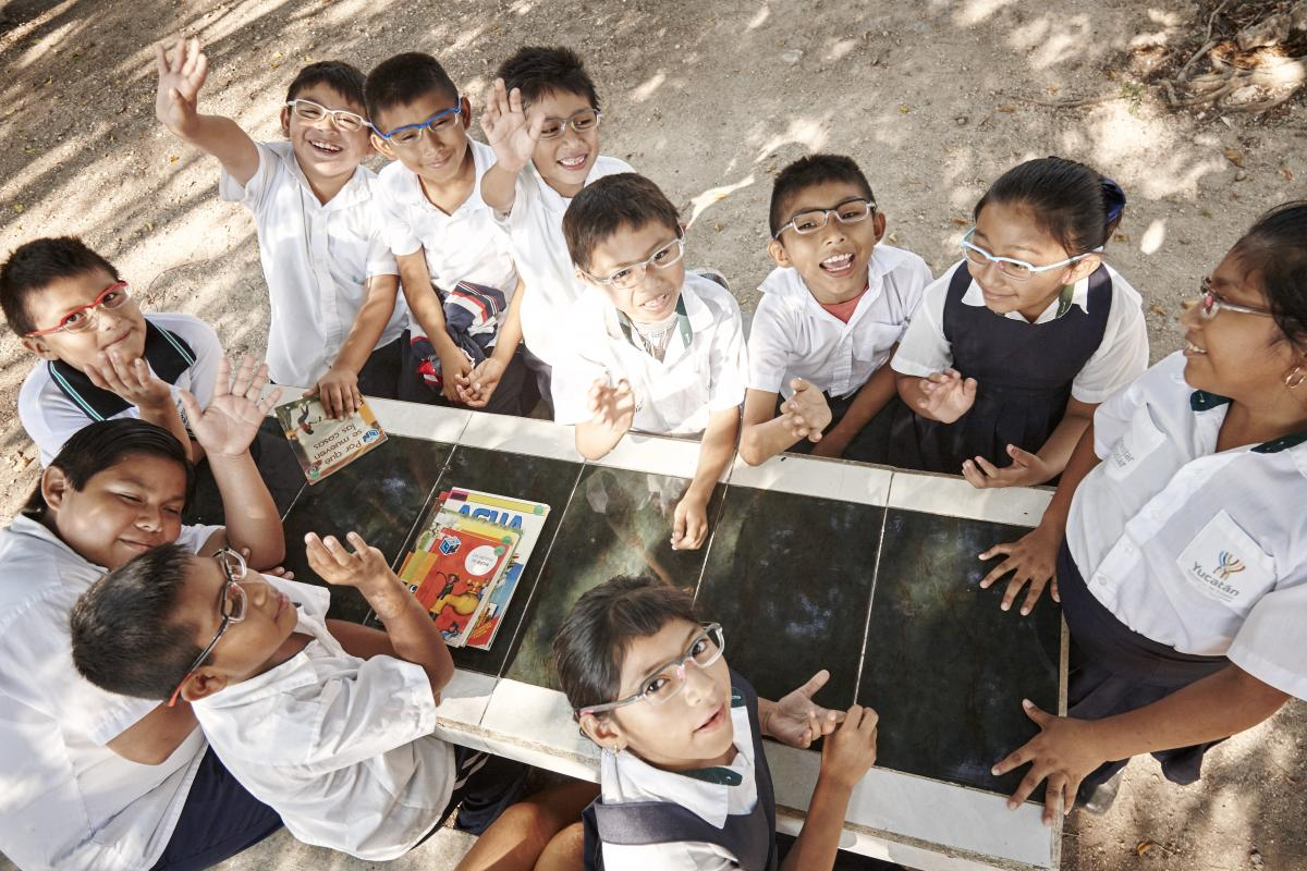 Update from Latin America; Image: Children enjoying the school with their eye glasses by Edgardo Contreras for the #StrongerTogether photo competition