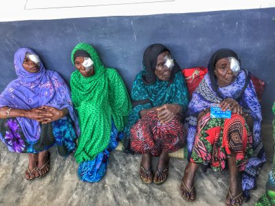 Patients waiting for check-up after cataract surgery/ Adnan Mohammed