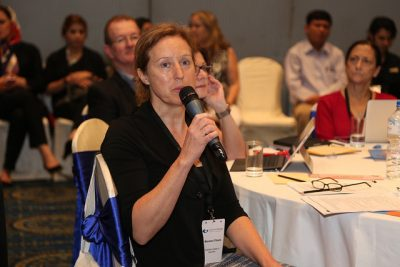 Maureen at CoM in Kathmandu