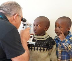 "Advice from the ophthalmologist at Eye camp by ""Eye From Zion"" chuka hospital Mount Kenya"