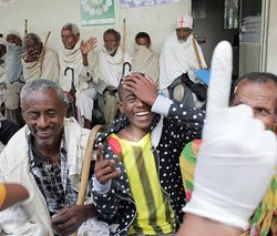After surgery screening at an ophthalmic outreach in Ethiopia