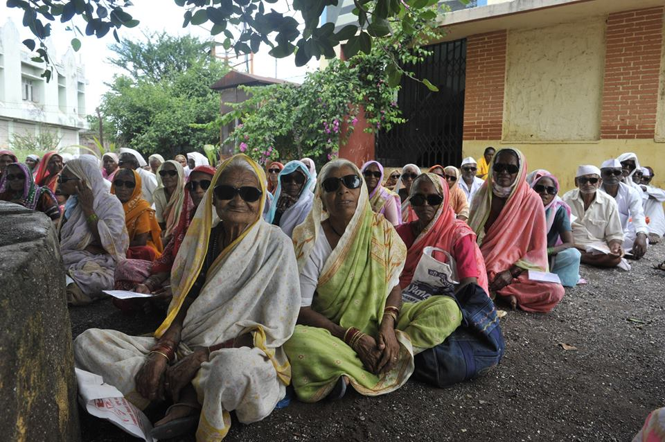 Patients at a cataract surgery camp; Mission For Vision