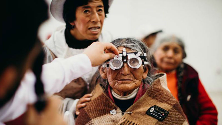 A senior citizen in Peru gets her glasses/ Story: Doug Jackson, CEO, CharityVision on celebrating 30 years of giving sight back to the blind...