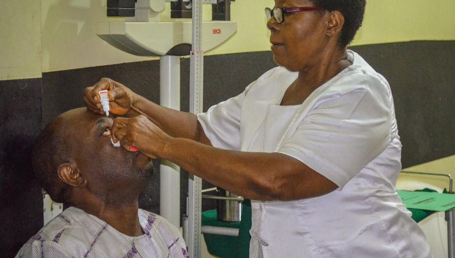 Administering eye drops
