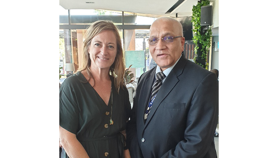 Amanda and Dr Das at APAO/ Story: IAPB WPR Focus: Quarter one in the Western Pacific region