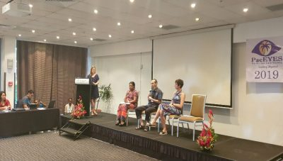 Amanda at the conference/ Story: PacEYES – Another Successful Conference in Suva