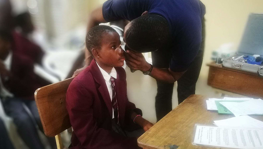 An Eye screening exercise for school children in Lagos, Nigeria