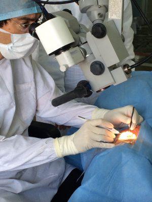 Dr Lerner in the OR