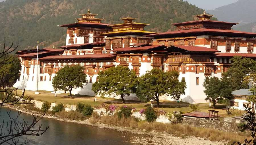 LCIF Supports New Study in Bhutan. Bhutan Monastery