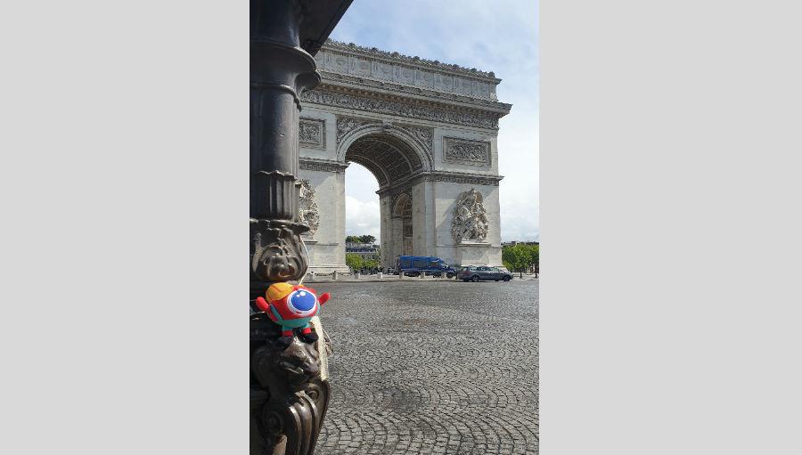 Big Eye at Arc de Triomphe in Paris