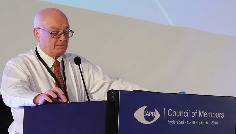 CoM 2018: IAPB Africa Update. Pic: Bob McMullan, President, IAPB